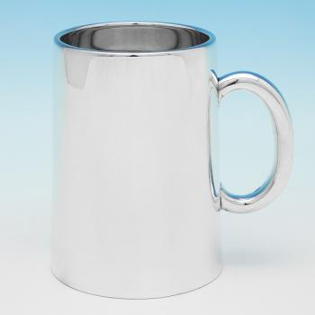B9927: Antique Sterling Silver Mug - Richard Sibley I Hallmarked In 1870 London - Victorian - Image 1