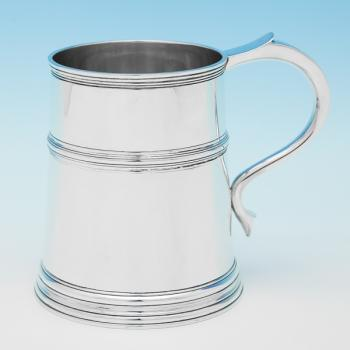 B9954:  Sterling Silver Mug - Mappin & Webb Hallmarked In 1933 London - George V - Image 1