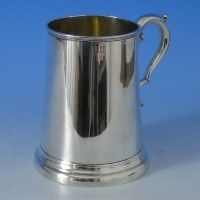 j0059: Antique Sterling Silver Mug - Edward Hutton Hallmarked In 1884 London - Victorian - image 1