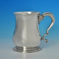 j7189: Antique Sterling Silver Mug - Paul De Lamerie Hallmarked In 1745 London - George II Georgian - image 1