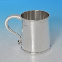 j9409: Sterling Silver Mug - Charles Boyton & Sons Hallmarked In 1935 London - George V  - image 1