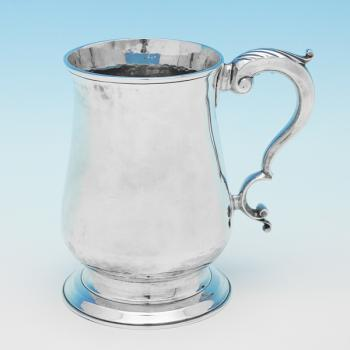 L0159: Antique Sterling Silver Mug - J.King  Hallmarked In 1776 London - Georgian - Image 1