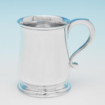 L0202:  Sterling Silver Christening Mug - Goldsmiths & Silversmiths Co. Hallmarked In 1943 London - George VI - Image 1