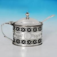B1259:  Sterling Silver Mustard Pot - T. Bradbury & Sons Hallmarked In 1913 London - George V - Image 1