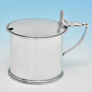 B8178: Antique Sterling Silver Mustard Pots - Edward Hutton Hallmarked In 1888 London - Victorian - Image 1