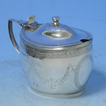 d6504: Antique Sterling Silver Mustard Pot - Hallmarked In 1808 London - George III Georgian - image 1