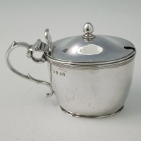 e8423: Antique Sterling Silver Mustard Pots - Napthali Hart Hallmarked In 1807 London - George III Georgian - image 1