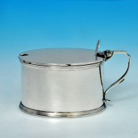 j6170: Sterling Silver Mustard Pot - Horace Woodward & Co Hallmarked In 1915 London - George V  - image 1