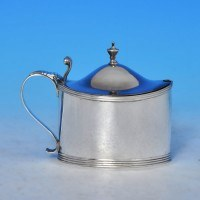 j9141: Antique Sterling Silver Mustard Pot - Frances Purton & Thomas Johnson Hallmarked In 1794 London - George III Georgian - i