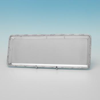 L0182: Antique Sterling Silver Pen Tray - Goldsmiths & Silversmiths Co. Hallmarked In 1907 London - Edwardian - Image 1