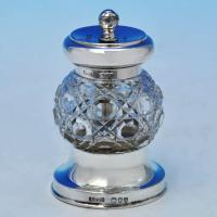 B2152: Antique Sterling Silver Pepper Grinder - John Grinsell & Sons Hallmarked In 1893 London - Victorian - Image 1