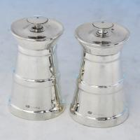B2394:  Sterling Silver Pair Of Pepper Grinders - Hukin & Heath Hallmarked In 1913 Birmingham - George V - Image 1