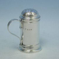 d3111b: Antique Sterling Silver Pepper Pot - Charles Stuart Harris Hallmarked In 1908 London - Edwardian - image 1