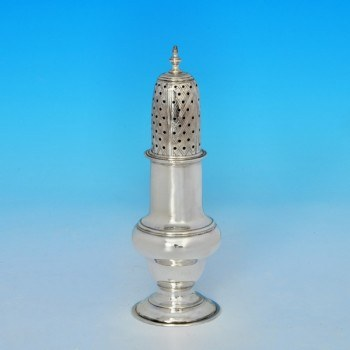 j6923: Antique Sterling Silver Pepper Pot - Charles Hougham Hallmarked In 1775 London - George III Georgian - image 1