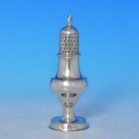j9281: Antique Sterling Silver Pepper Pot - Hester Bateman Hallmarked In 1786 London - George III Georgian - image 1