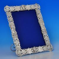 B1172: Antique Sterling Silver Photograph Frames - John Septimus Beresford Hallmarked In 1885 London - Victorian - Image 1