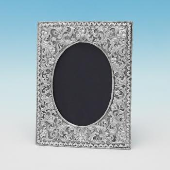 B9206: Antique Sterling Silver Photograph Frame - Unknown Hallmarked In 1890 London - Victorian - Image 1