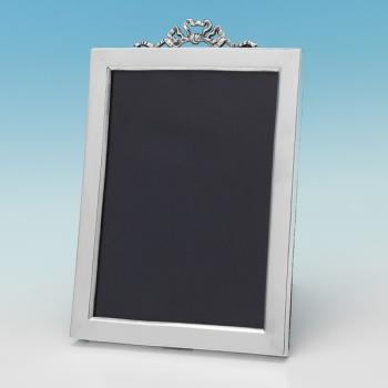 B9832: Antique Sterling Silver Photograph Frame - Unknown Hallmarked In 1897 Birmingham - Victorian - Image 1