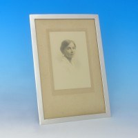 j2432: Antique Sterling Silver Photograph Frame - Deakin & Francis Hallmarked In 1907 London - Edwardian - image 1