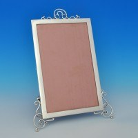 j5420: Antique Sterling Silver Photograph Frame - Stokes & Ireland Hallmarked In 1900 London - Victorian - image 1