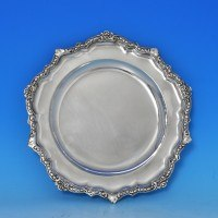 j8025: Antique Sterling Silver Plate - John S Hunt Hallmarked In 1853 London - Victorian - image 1