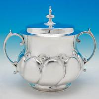 B5790: Antique Sterling Silver Porringers - William Comyns Hallmarked In 1912 London - George V - Image 1