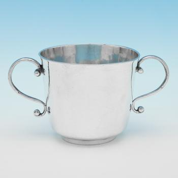 L0210: Antique Sterling Silver Porringer - Unknown Hallmarked In 1684 London - Charles II - Image 1