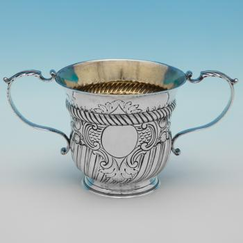 L0600: Antique Sterling Silver Porringer - Unknown Hallmarked In 1749 London - Georgian - Image 1