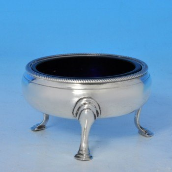 j8003: Antique Sterling Silver Pair Of Salt Cellars - Hallmarked In 1784 London - George III Georgian - image 2