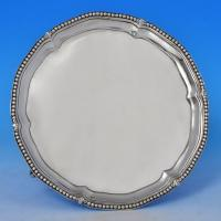B0823: Antique Sterling Silver Salvers - Robert Makepeace & Richard Carter Hallmarked In 1777 London - Georgian - Image 1