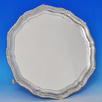 B1106: Antique Sterling Silver Salver - Henry Stratford Hallmarked In 1899 London - Victorian - Image 1