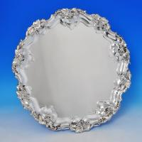 B1159: Antique Sterling Silver Salver - James Dixon & Sons Hallmarked In 1907 Sheffield - Edwardian - Image 1