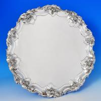B1160: Antique Sterling Silver Salver - James Dixon & Sons Hallmarked In 1907 Sheffield - Edwardian - Image 1