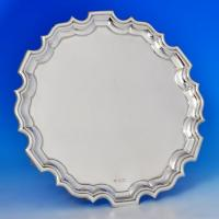 B1204:  Sterling Silver Salver - Horace Woodward Hallmarked In 1929 Sheffield - George V - Image 1