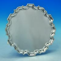 B1332:  Sterling Silver Salver - Tessiers Hallmarked In 1932 London - George V - Image 1