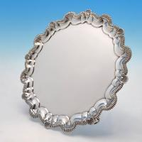 B4481: Antique Sterling Silver Salver - Manoha Rhodes Hallmarked In 1913 London - George V - Image 1