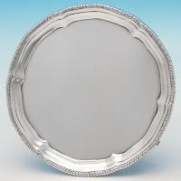 B6298: Antique Sterling Silver Salver - Stephen Smith Hallmarked In 1878 London - Victorian - Image 1