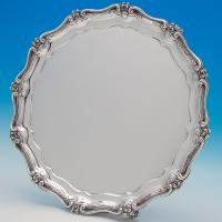 B6592: Antique Sterling Silver Salvers - Benjamin Smith Hallmarked In 1840 London - Victorian - Image 1