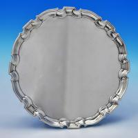 D0206: Antique Sterling Silver Salver - John Tuite Hallmarked In 1730 London - Georgian - Image 1