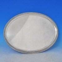 e2000: Antique Sterling Silver Salver - Hannam & Crouch Hallmarked In 1799 London - George III Georgian - image 2