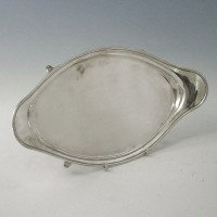 e4653: Antique Sterling Silver Salvers - Hallmarked In 1799 London - George III Georgian - image 1