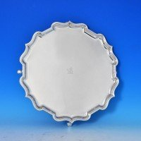 j7341: Sterling Silver Salver - Elkington & Co. Hallmarked In 1920 Birmingham - George V  - image 1
