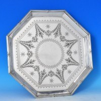 j7634: Antique Silver Plate Salver - Elkington & Co. Circa 1904 - Edwardian - image 1