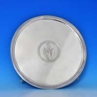 j7810: Antique Sterling Silver Salver - Hallmarked In 1796 London - George III Georgian - image 1