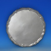 j8017: Antique Sterling Silver Salver - Hallmarked In 1765 London - George III Georgian - image 1