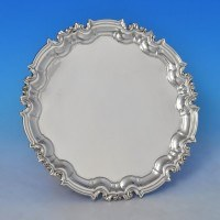 j8791: Antique Sterling Silver Salver - William Hutton & Sons Hallmarked In 1899 London - Victorian - image 1