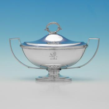 L0483: Antique Sterling Silver Sauce Tureen - Thomas Robins Hallmarked In 1275 London - Pre Elizabeth I - Image 1