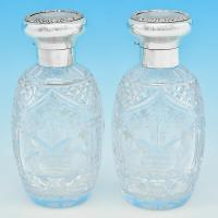 B5792:  Sterling Silver Scent Bottles - Mappin & Webb Hallmarked In 1919 London - George V - Image 1