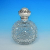 j6439: Antique Sterling Silver Scent Bottle - Henry Matthews Hallmarked In 1902 Birmingham - Edwardian - image 1