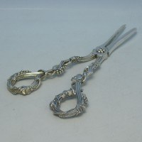 d2977: Antique Sterling Silver Grape Shears - Francis Higgins Hallmarked In 1850 London - Victorian - image 1